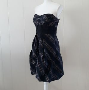 BCBG Maxazria Dress 8 Black Plaid